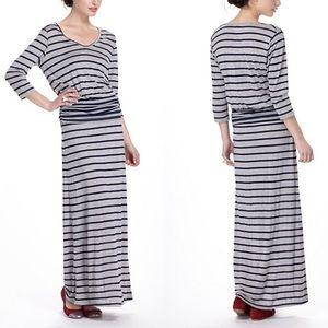 Anthropologie Puella Striped Chemise Maxi Dress M
